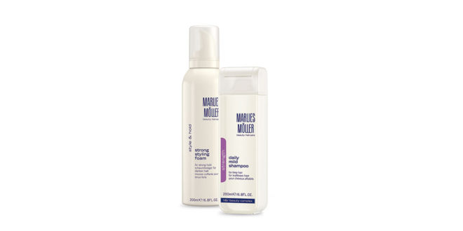 Marlies Möller Daily Mild Shampoo und Strong Styling Foam